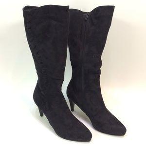 Impo Flex Black Knee High Ruffle Boots Size 12M